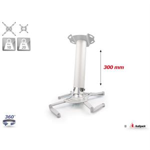 Deckenhalterung QFIX grau 300 mm <20 kg