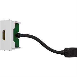 HDMI Modul 4K/30Hz F/F weiss mit 200mm Kabel
