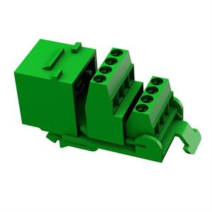 RJ45 8-pol Keystone grün