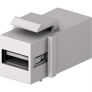 USB A-B Keystone F/F weiss