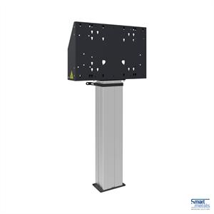 """Elévateur au sol XL 86"""", 135 kg, hauteur réglable 600 mm, noir/alu"""