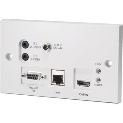 HDBaseT - HDMI - émetteur - montage mural encastré - PoE bidirectionnel