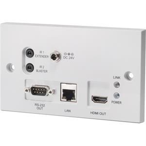 HDBaseT - HDMI - récepteur - montage mural encastré - PoE bidirectionnel
