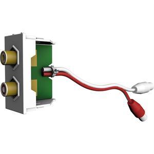 Module 2x RCA rouge/blanc F/F avec câble de 200 mm