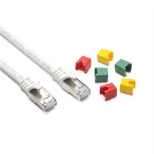 CAT6A Round-Patch S-FTP/LSZH, bianco, codificabile, 5.0m