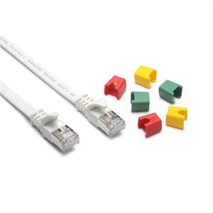 CAT6A Slim-Patch U-FTP/LSZH, bianco, codificabile, 15.0m