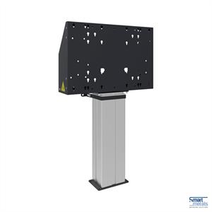 """Elevatore a pavimento Mini 86""""/135 kg/altezza regolabile 501 mm/nero/allu"""