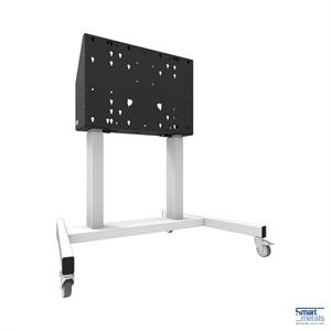 """Elevatore di display mobile su ruote, 86""""/120 kg, 660mm aggiustamento dell'altezza, bianco"""