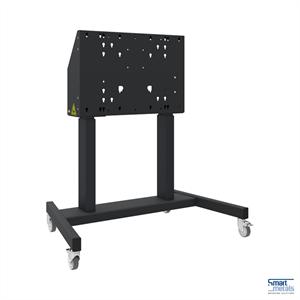 """Elevatore di display mobile su ruote, 86"""", 120 kg, 660mm aggiustamento dell'altezza, nero"""