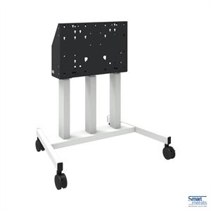 """Elevatore di display mobile su ruote, 98""""/180 kg, 660mm aggiustamento dell'altezza, bianco"""