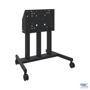 """Elevatore di display mobile su ruote, 98""""/180 kg, 660mm aggiustamento dell'altezza, nero"""