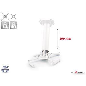 Supporto a soffitto QFIX bianco 100 mm <20 kg
