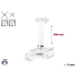 Supporto a soffitto QFIX bianco 300 mm <20 kg