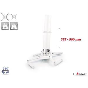 Supporto a soffitto QFIX bianco 355-500 mm <20 kg