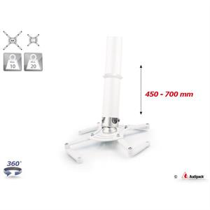 Supporto a soffitto QFIX bianco 450-700 mm <20 kg