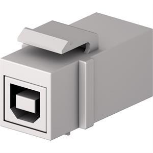USB B-A Keystone F/F bianca